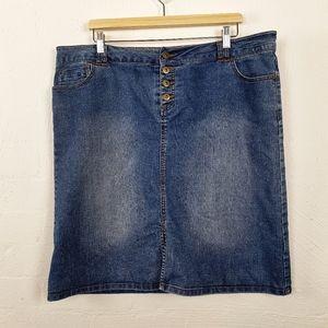 KATIES  Blue Denim Stretch Skirt Size 18